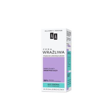 AA – Cera Wrażliwa Przeciw Zmarszczkom Nawilżający krem pod oczy bezzapachowy (15 ml)