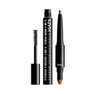NYX Professional MakeUp 3in1 Brow Pencil wielofunkcyjny produkt do makijażu brwi 02 Taupe