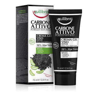 Equilibra Carbone Detox Face Gel-Cream – oczyszczający krem-żel do twarzy z aktywnym węglem (75 ml)