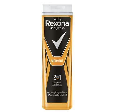 Rexona Men Workout – żel pod prysznic i szampon dla mężczyzn 2w1 (400 ml)