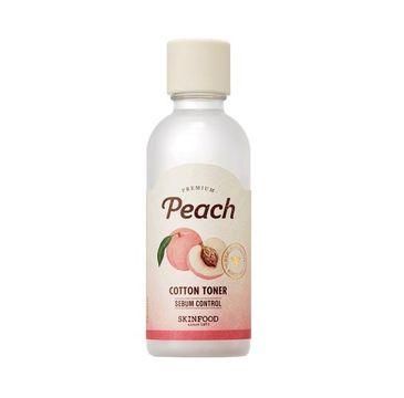 Skinfood Premium Peach Cotton Toner – tonik brzoskwiniowy do twarzy (180 ml)