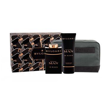 Bvlgari Man In Black – zestaw woda perfumowana spray (100 ml) + balsam po goleniu (100 ml) + kosmetyczka