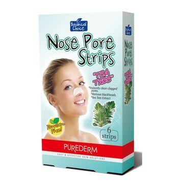 Purederm – Oczyszczające plastry na nos Tea Tree (6 szt.)