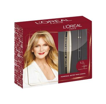 L'Oreal Paris Zestaw Volume Million Lashes Mascara tusz do rzęs Black 10.7ml + Super Liner Perfect Slim eyeliner w pisaku Black 7g
