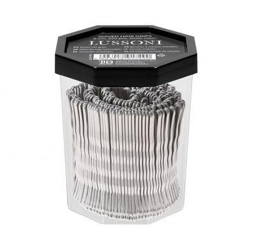 Lussoni – Wsuwki do włosów srebrne karbowane 6cm (250 szt.)
