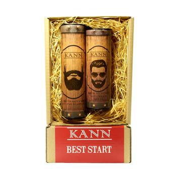 KANN Best Start Man zestaw Face And Bear Gel żel do mycia twarzy i brody 150 ml + Day Cream krem na dzień SPF 15 150 ml