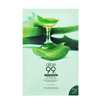Holika Holika – Aloe 99% Soothing Gel Jelly Mask Sheet nawilżająca maska w płachcie (23 ml)