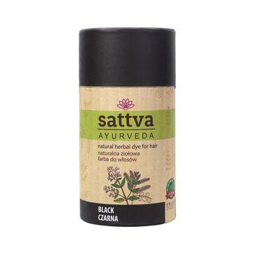 Sattva Natural Herbal Dye for Hair naturalna ziołowa farba do włosów Black 150g