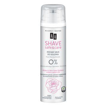 AA – Shave Safe&Care mus do golenia Rose (200 ml)
