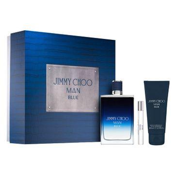 Jimmy Choo – Man Blue zestaw woda toaletowa spray 100ml + miniatura wody toaletowej 7.5ml + balsam po goleniu 100ml (1 szt.)
