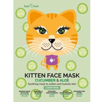 7th Heaven – Kitten Face Mask kojąca maseczka w płachcie Cucumber & Aloe (1 szt.)