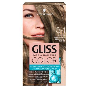 Gliss – Color (krem koloryzujący nr 8-1 Chłodny Średni Blond 1 op.)