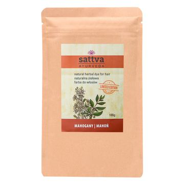 Sattva – Natural Herbal Dye for Hair naturalna ziołowa farba do włosów Mahogany (100 g)
