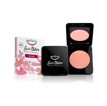 Equilibra Love's Nature Colour Blush róż do policzków 02 Peach (8.5 g)