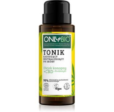 OnlyBio – Olejek konopny + CBD + Prebiotyki tonik łagodzący neutralizujący PH skóry (300 ml)