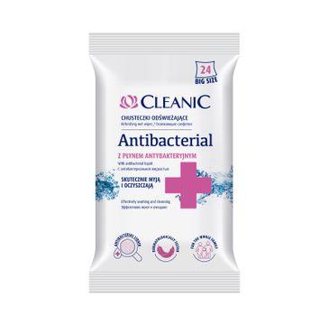 Cleanic – chusteczki odświeżające antybaketryjne (24 szt.)