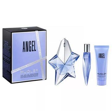 Thierry Mugler Angel – zestaw woda perfumowana spray (50 ml) + miniatura wody perfumowanej (10 ml) + żel pod prysznic (50 ml)