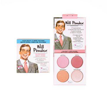 The Balm – Paleta róży do policzków  Will Powder Blush Quad (10 g)