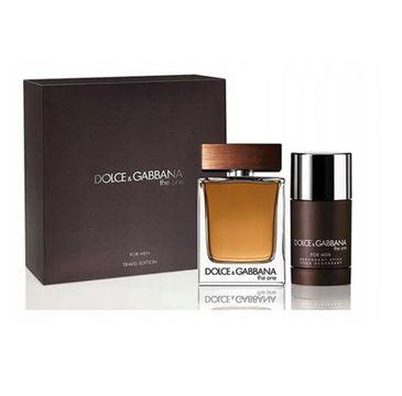Dolce & Gabbana – The One For Men zestaw woda toaletowa spray 100ml + dezodorant sztyft 75ml (1 szt.)