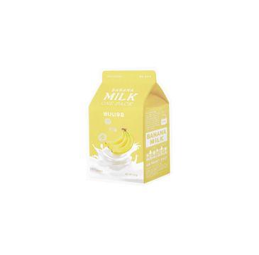 A'Pieu Banana Milk One-Pack rozświetlająco-odżywcza maseczka w płachcie Banan 20g