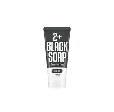 A'Pieu Fresh Black Soap 2+ Cleansing Foam oczyszczająca pianka do mycia twarzy 130ml