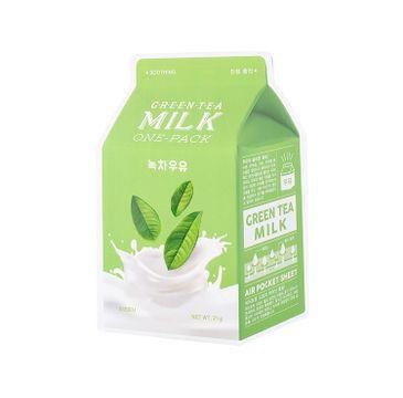 A'Pieu Green Tea Milk One-Pack kojąca maseczka w płachcie Zielona Herbata 20g