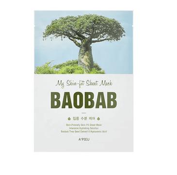 A'Pieu My Skin-Fit Sheet Mask nawadniająca maseczka w płachcie Baobab Tree 25g
