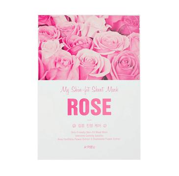 A'Pieu My Skin-Fit Sheet Mask nawilżająco-kojąca maseczka w płachcie Rose 25g