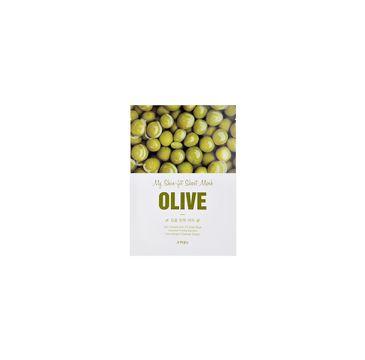 A'Pieu My Skin-Fit Sheet Mask ujędrniająco-rozświetlająca maseczka w płachcie Olive 25g