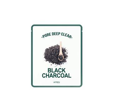 A'Pieu Pore Deep Clear oczyszczająca maseczka w płachcie Black Charcoal 15g