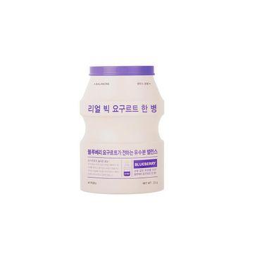 A'Pieu Real Big Yogurt One-Bottle przywracająca skórze równowagę maseczka w płachcie Blueberry 21g