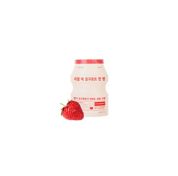 A'Pieu Real Big Yogurt One-Bottle rozjaśniająca maseczka w płachcie Strawberry 21g