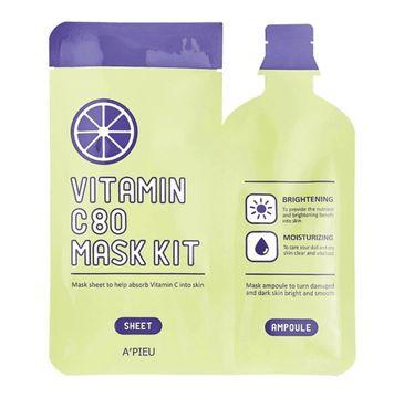 A'Pieu Vitamin C 80 Mask Kit rozjaśniająca maseczka w płachcie 27g