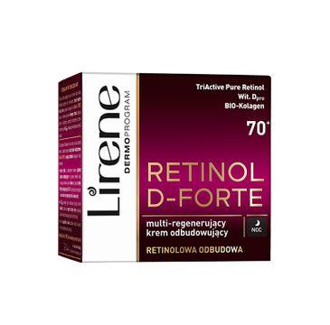 Lirene Retinol D-Forte 70+ – multiregenerujący krem odbudowujący na noc (50 ml)