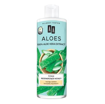 AA – Aloes 100% aloe vera extract tonik regenerująco-kojący (400 ml)