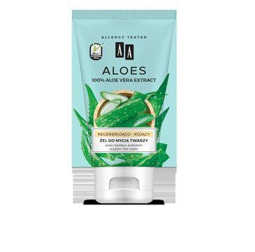 AA Aloes 100% aloe vera extract Żel do mycia twarzy regenerująco - kojący (150 ml)
