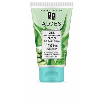 AA – Aloes Żel multifunkcyjny S.O.S. do rąk i ciała - 100% Aloe Vera (150 ml)