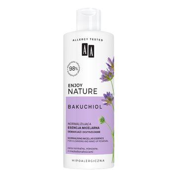AA Enjoy Nature Esencja Micelarna normalizująca esencja micelarna demakijaż i oczyszczanie (400 ml)