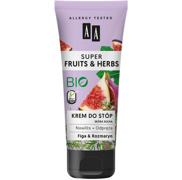 AA Super Fruits & Herbs – krem do stóp rozmaryn&figa (75 ml)