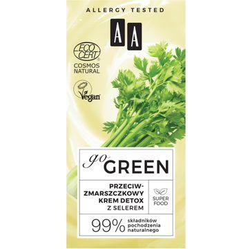 AA – Go Green przeciwzmarszczkowy krem detox  z selerem Natural (50 ml)