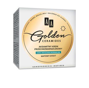 AA Golden Ceramides Aksamitny krem przeciwzmarszczkowy na dzień cera normalna i mieszana 50 ml