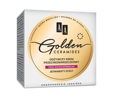AA Golden Ceramides Odżywczy krem przeciwzmarszczkowy na dzień cera sucha i normalna 50 ml