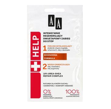 AA HELP intensywnie regenerujący dwuetapowy zabieg do stóp skóra sucha i szorstka 2 x 5 ml