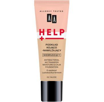 AA – Help podkład do twarzy kojąco-nawilżający 02 Nude (30 ml)