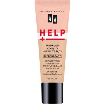 AA – Help Podkład Kojąco Nawilżający 01 Ivory (30 ml)