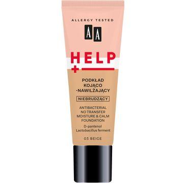 AA – Help podkład kojąco-nawilżający 03 Beige (30 ml)