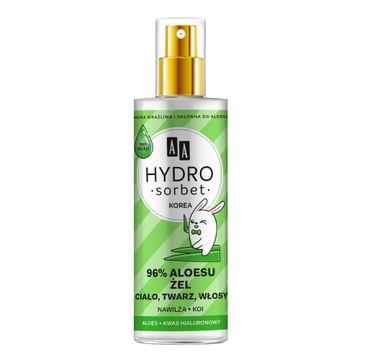 AA – Hydro Sorbet żel do ciała twarzy i włosów w atomizerze 96% aloesu (200 ml)