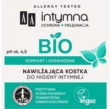 AA – Intymna Bio Nawilżająca Kostka do higieny intymnej (80 g)