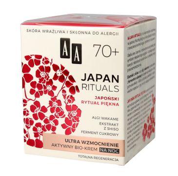 AA Japan Rituals 70+ aktywny bio krem na noc - ultra wzmocnienie 50 ml