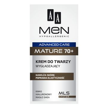 AA – Men Advanced Care Mature 70+ krem do twarzy wygładzający (50 ml)